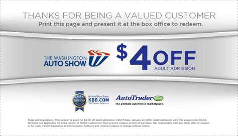 Promo 85k Get 3 Novel 1 washington auto show 4 coupon