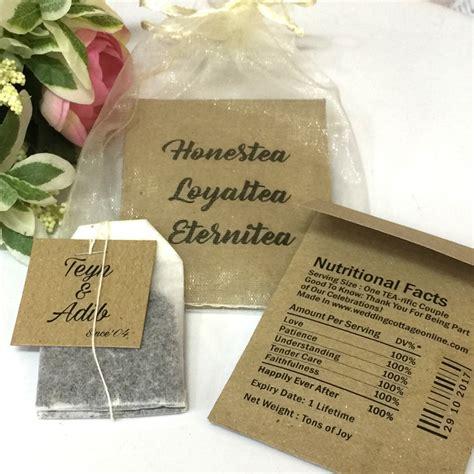 personalized tea bag unique wedding favors door gifts
