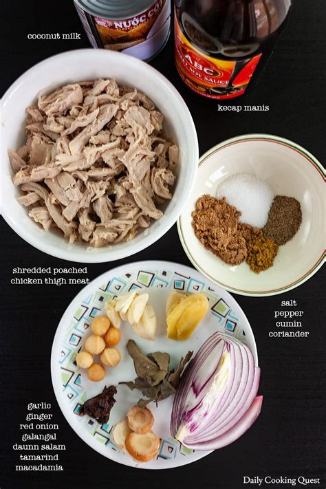 ayam suwir saus empal chicken  spices coconut milk