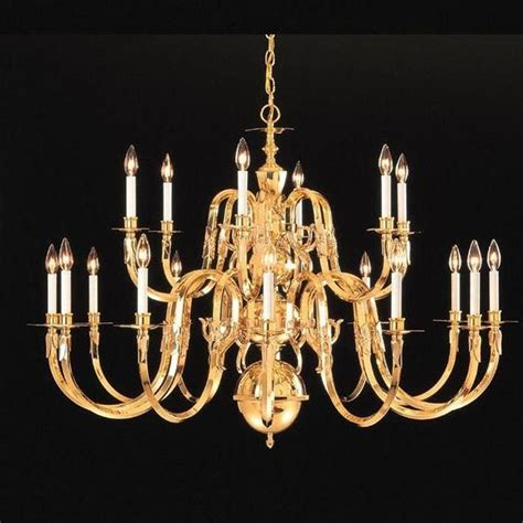 Solid Brass Chandeliers Crystorama 419 60 18 Solid Brass Chandelier Williamsburg Collection