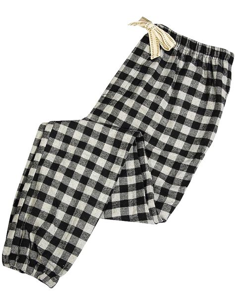 Plaid In Or Out bottoms out mens flannel plaid checker lounge pant grey