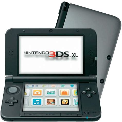 console nintendo 3ds xl nintendo 3ds xl console silver black from conrad