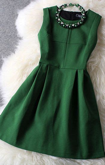 fresh green with beading party dres