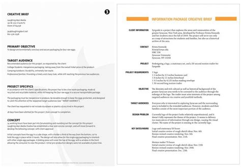 visual communication design brief template how to write a creative brief the visual communication