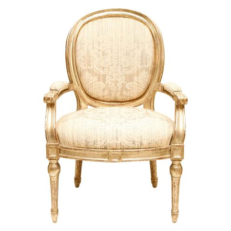 Louis Armchair by Silver Gilt Louis Xvi Roundback Armchair At 1stdibs