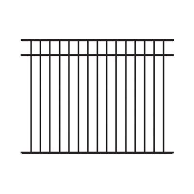 barrette  ft     ft flat top  rail panel black metal fences  gates metal fence