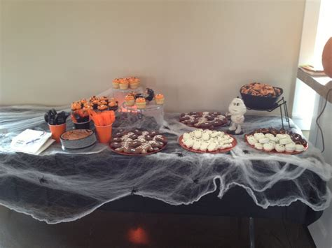 halloween themed desserts halloween themed baby shower spooky dessert table our
