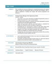finance executive resume assistant project manager cv ctgoodjobs powered by