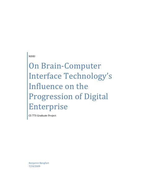 brain computer interface research paper research paper on brain computer interface devices i on