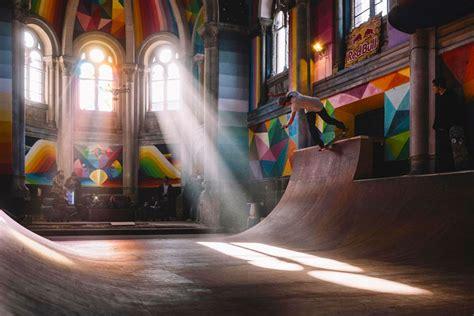 church  spain transformed   skate park