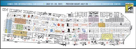 san diego convention center floor plan comic con 2011 convention center exhibitor floor map