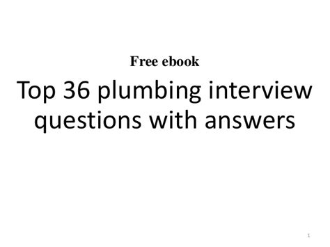 Plumbing Questions by Top 10 Plumbing Questions With Answers