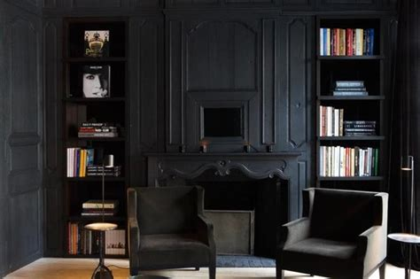 all black living room matte black room space traditional living room by