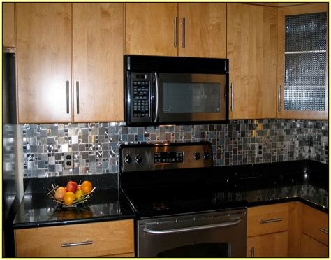 stainless steel subway tile backsplash home design ideas