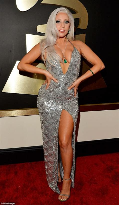 No One Shuts Up Sings At Grammy Awards by Gaga Channels Inner Vixen In Platinum Ensemble At