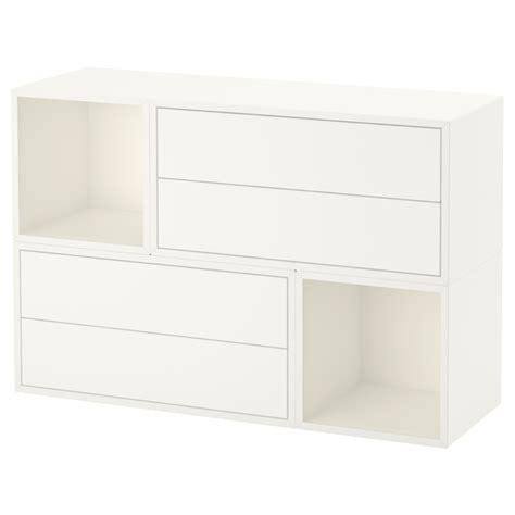 wall mounted cabinets ikea eket wall mounted cabinet combination white 105x35x70 cm ikea