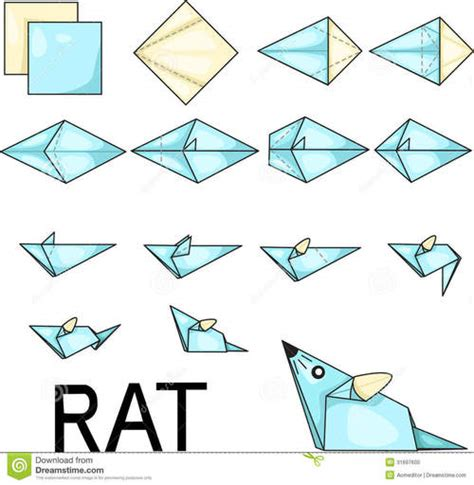 Easy Origami Mouse - mouse souris origami we it