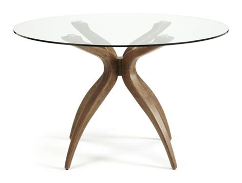 Walnut And Glass Dining Table Serene Islington Glass And Walnut Dining Table By Serene Furnishings