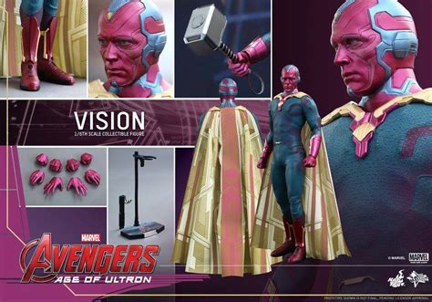 hot toys vision figure   order mms  marvel toy news