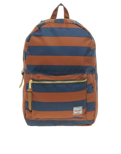 Arsenal Blue Stripe Backpack herschel supply co stripe settlement backpack in blue for