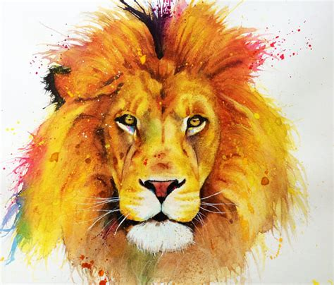watercolor lion tutorial 39 wallpaper spray colorful background color wallpaper
