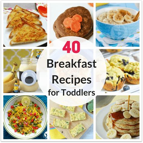 40 healthy breakfast recipes for toddlers