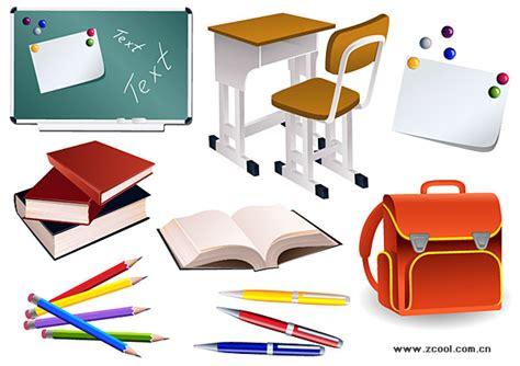 ver imagenes de utiles escolares los estudiantes de material escolar de vectores descarga