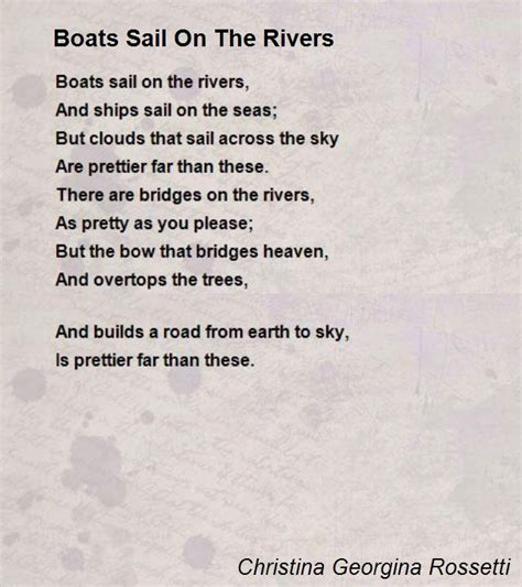 boats sail on the rivers poem by christina georgina - Boats Sail On The Rivers Meaning In Hindi