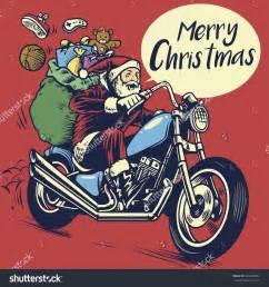 santa on a motorcycle santa a motorcycle clipart 60