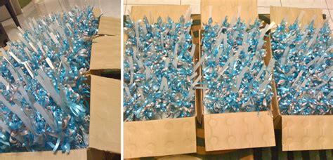 Botol Telor pink blue diy bunga dip tempahan