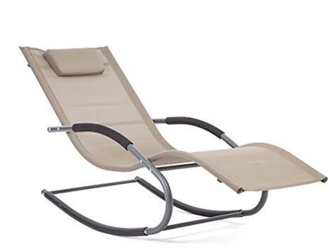 Pool Recliner by Luckup Outdoor Recliner Pool Chaise Patio Rocking Wave
