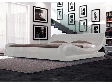 kingsize leather bed frame king size pu leather bed frame leonardo collection white