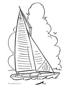 Printable Sailboat Coloring Pages sketch template