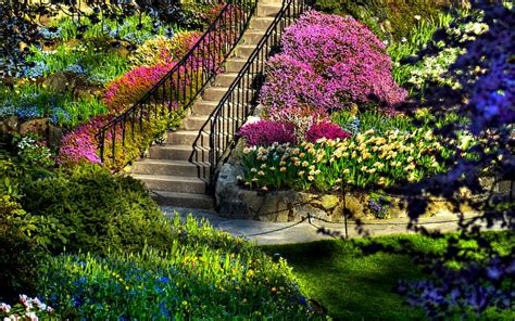 Description Of A Beautiful Garden Beautiful Beautiful Garden Nature Flowers Hd