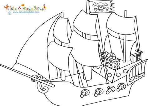 dessin bateau de pirate facile nos jeux de coloriage pirate 224 imprimer gratuit page 5 of 17