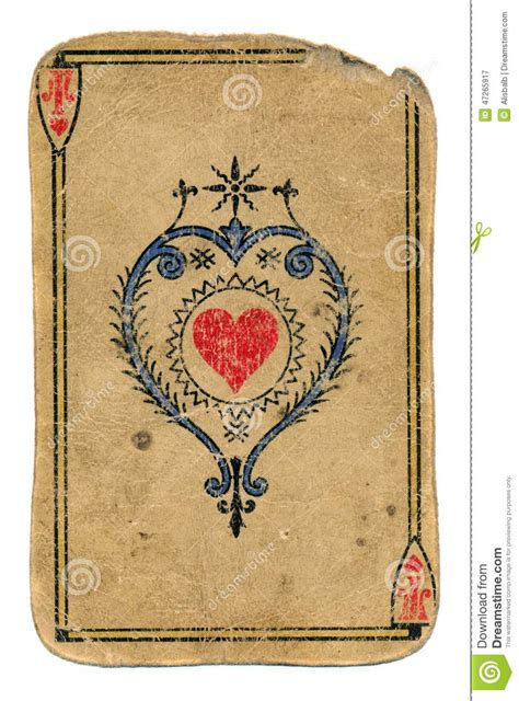 cards antique antique card ace of hearts isolated on white stock