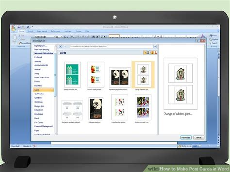 how to create greetings cards in microsoft word 2010