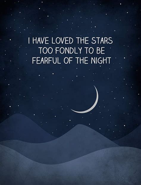 loved  stars  fondly inspirational quote print nursery decor wall art quote