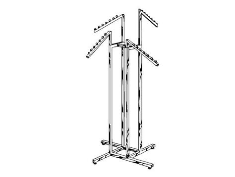 4 Arm Clothing Rack by Adjustable 4 Arm Rack Handy Store Fixtures