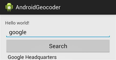 Search Address Android Er Search Address By Name With Geocoder