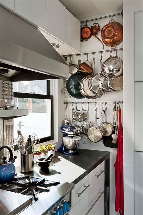 pot racks for small kitchens hangin up the pots and functional ways