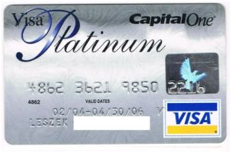 Capital One Visa Gift Card - bank card visa platinum capital one united states of america col us vi 0094