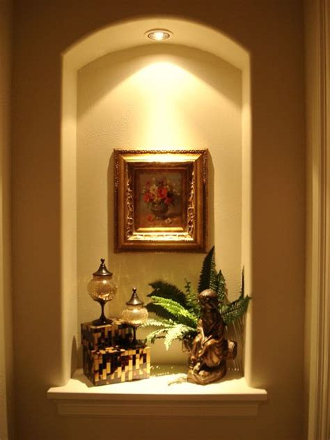home remodeling improvement idea alcoves fireplaces - Foyer Niche Decorating Ideas