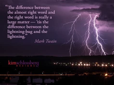 between the lightning bug and the lightning a writers mark twain s tip for dazzling writing kim schlossberg