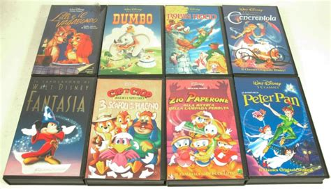 Pers Baby L8 lotto walt disney classici home 8 vhs pan