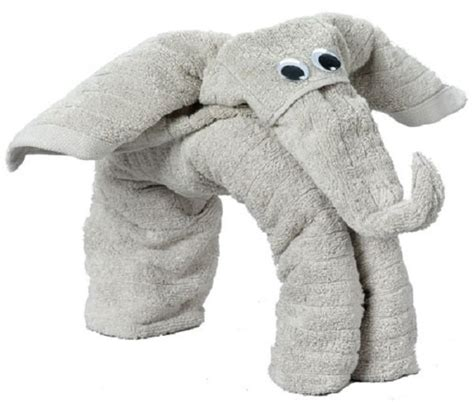Towel Origami Elephant - 30 and creative things to do when bored and design