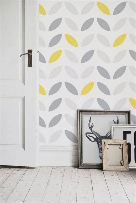 kitchen wallpaper grey and yellow neat interior designs with grey wallpaper 28 photos