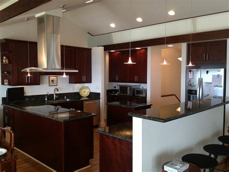 Kitchen Cabinets Honolulu by Espresso Cherry C Amp C Cabinets And Granite