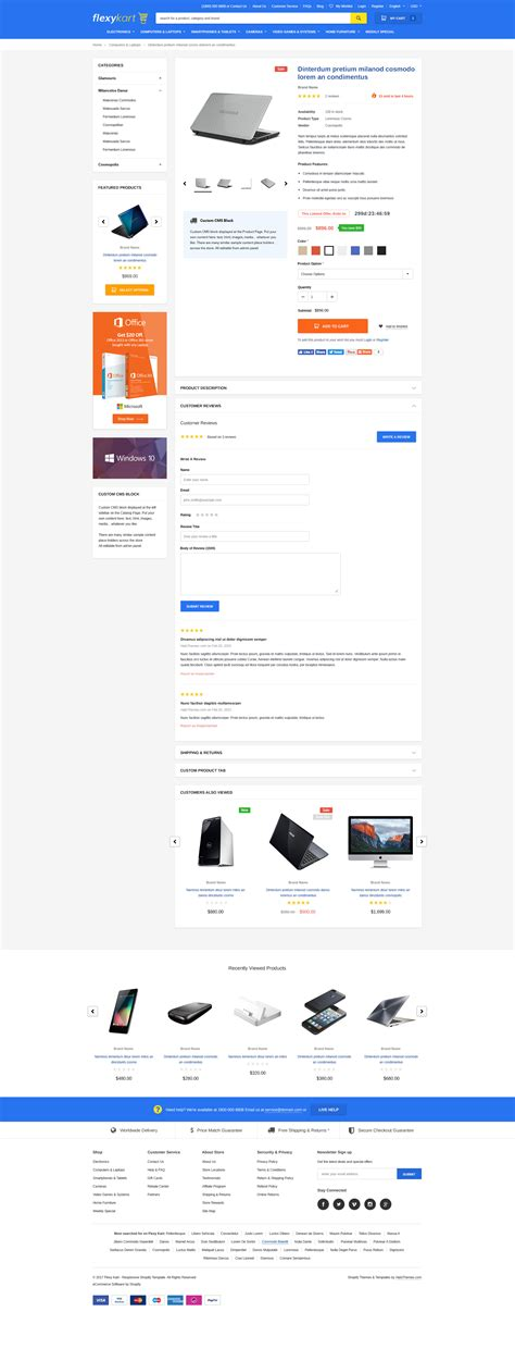 Flexykart Responsive Supermarket Shopify Template Halothemes Com Shopify Contact Us Page Template