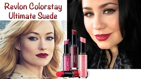 Lipstik Revlon Ultimate Suede revlon ultimate suede lipstick review demo